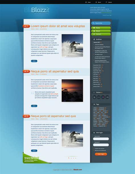 html css free templates freebie blozzit a free professional html css web