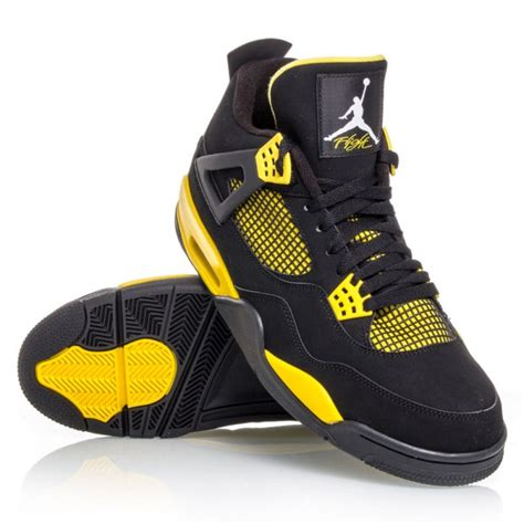 retro 4 basketball shoes air 4 retro mens basketball shoes black yellow