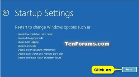 safe mode start windows 10 in