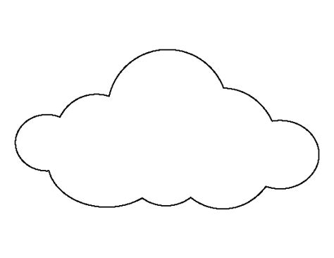 printable cloud outline clipart