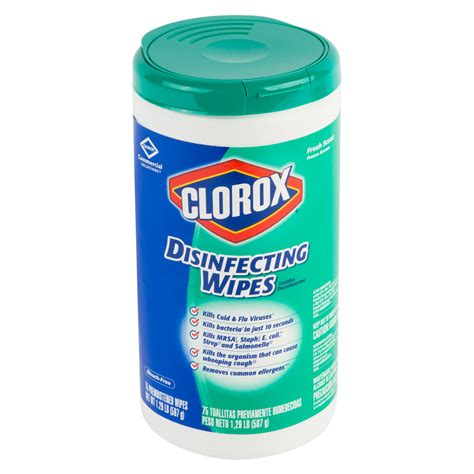clorox disinfectant cleaner  deodorizer wipes case