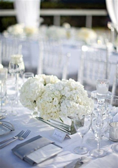 White Table Settings Simple All White Table Setting White Weddings