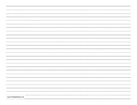 landscape writing paper printable penmanship paper with nine lines per page on