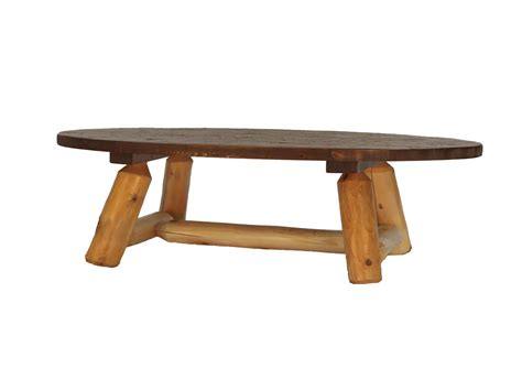 rustic oval coffee table oval rustic coffee table