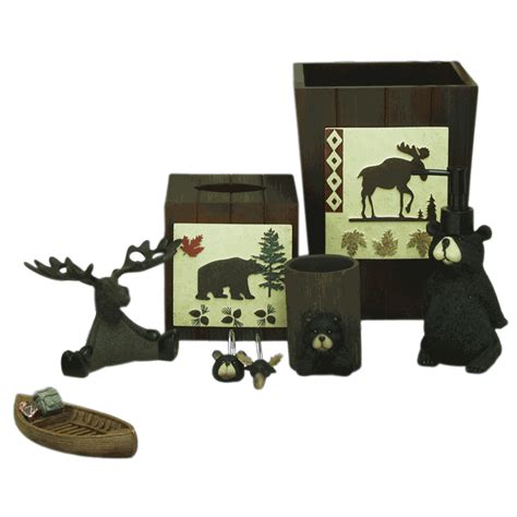 moose bathroom set moose and bear parade bath accessories