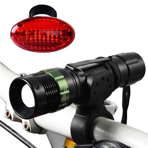 Bicycle Light by Canwelum Bright Cree Led Bicycle Light Rechargeable