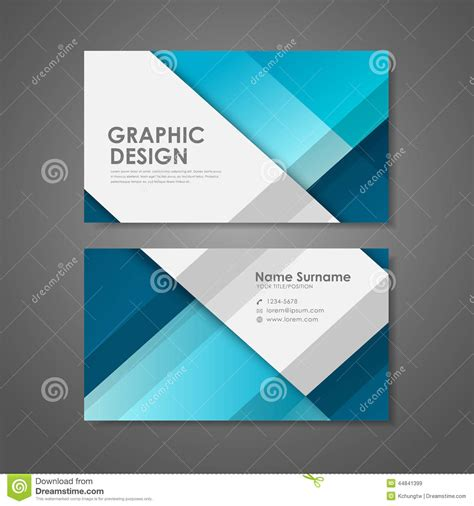 blue business card template creative business card template in blue stock vector