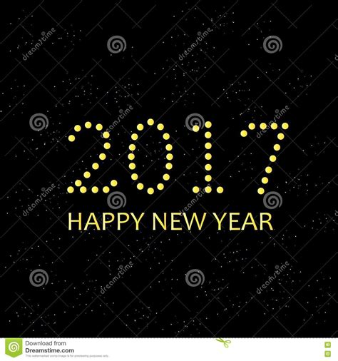 new year and yellow typography banner 2017 happy new year yellow on black