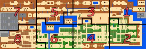 legend of zelda nes map first quest the legend of zelda overworld strategywiki the video