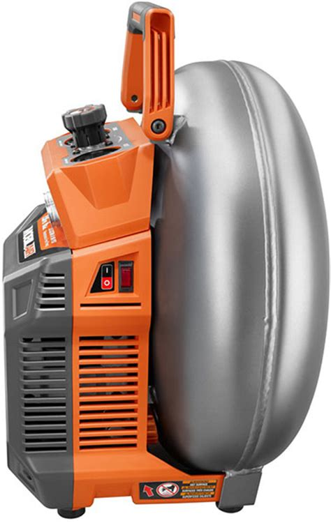 new ridgid and ryobi vertical pancake air compressors