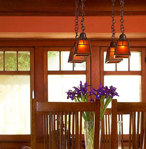 craftsman style lighting dining room lighting to accent and define arts crafts homes and