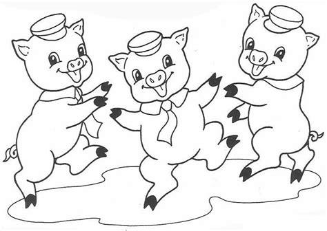 卡通动物简笔画图片 三只小猪的故事 卡通动漫简笔画 5068儿童网