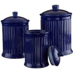 cobalt blue kitchen canisters canister sets products and canisters on pinterest