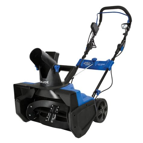 snow joe 18 ultra electric snow thrower with light snow joe 21 in 15 amp electric snow blower with light