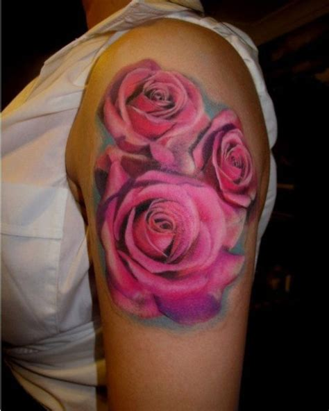 pink rose tattoo designs 83 wonderful flowers shoulder tattoos