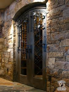 Denver Landscape Lighting - wine cellar door grill and hardware contemporary wine cellar denver by dragon forge ltd