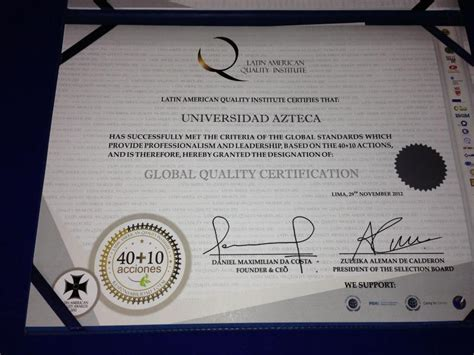 American Mba Accreditation by Universidad Azteca International Network System
