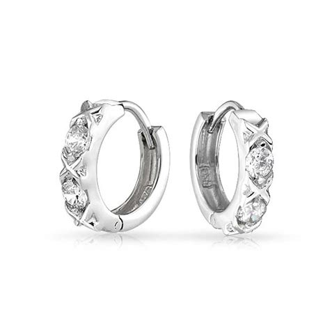 xoxo hugs and kisses cz huggie earrings 925 sterling