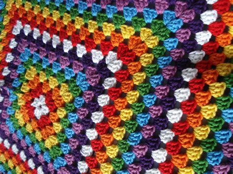 Rainbow Crochet Baby Blanket by Rainbows For Babies Kingo