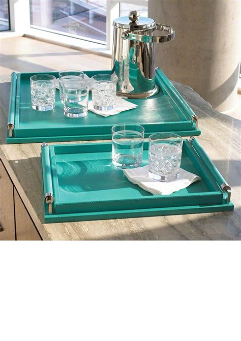 Turquoise Ottoman Coffee Table 17 Best Images About Trays On Mercury Glass