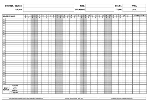 Free Printable 2018 Employee Attendance Calendars Printable Calendar 2018 Employee Calendar 2017 Template