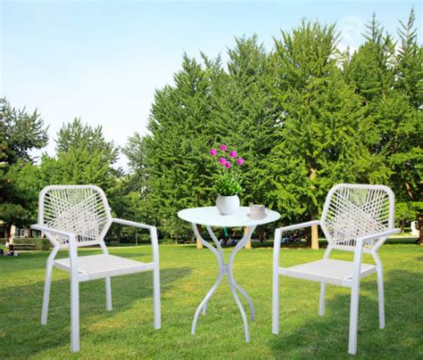 Glass Bistro Table And 2 Chairs Hlc 3 Bistro Patio Furniture Set With Glass Top Table And 2 Rattan Chairs In Garden Sets