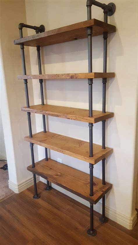 industrial storage shelves pipe shelving unit pipe bookcase industrial book industrial shelf wall shelf