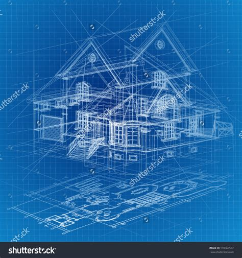construction blueprint blueprint house stock vectors vector clip art shutterstock
