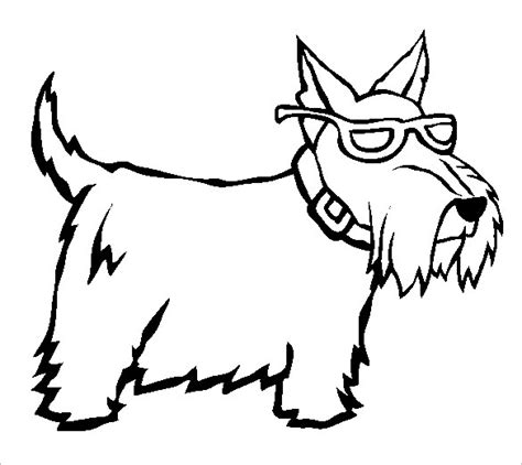 15 scottie dog templates crafts colouring pages free