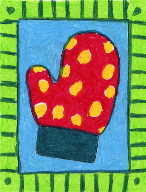 mitten pattern art project patterned mitten art projects for kids