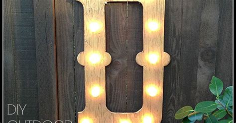 diy light decorations outdoor diy outdoor marquee light hometalk
