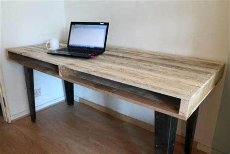 Handmade Desks - wood pallet computer desk dining table 101 pallets