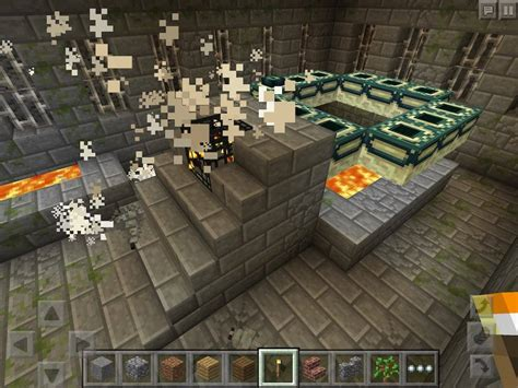 minecraft pe new portal minecraft pe stronghold at spawn 0 15 0 16 1 0