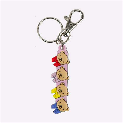 Teddy Keychain junjo romantica 3 teddy bears keychain accessories