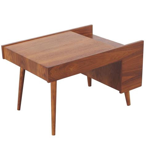 Magazine Table by Vintage Walnut Magazine Side Table By Milo Baughman For