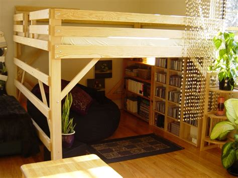 king size loft bed king loft bed by mc woodworks