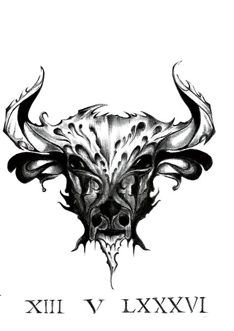 taurus sign tattoo design by dianabathory on deviantart