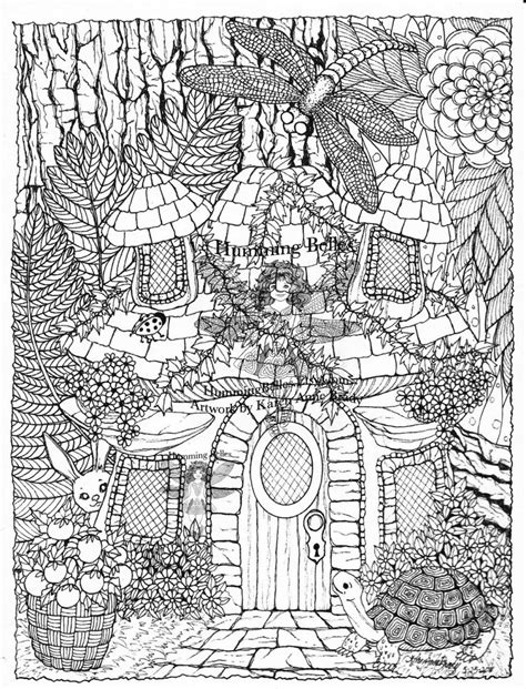 coloring page fairy house zen fairy house zentangle asa s and coloring pages