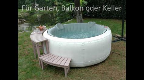 outdoor whirlpool selber bauen whirlpool aufblasbar f 252 r garten balkon oder keller