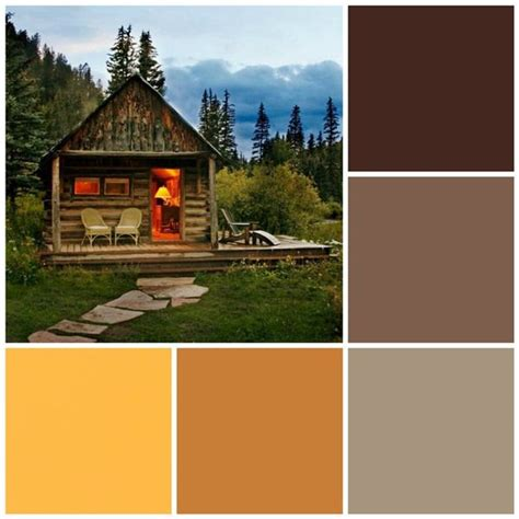 Log Cabin Colors by Cabin Retreat Color Scheme Color Palette