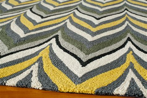 geo rug district17 yellow and gray geo zig zag rug patterned rugs