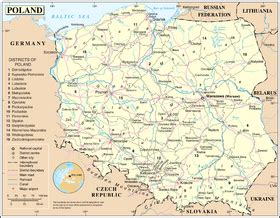 map of with all cities and towns list of cities and towns in poland