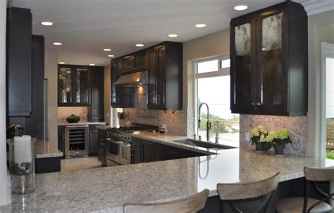 dark maple cabinets kitchen contemporary with backsplash dark maple cabinets