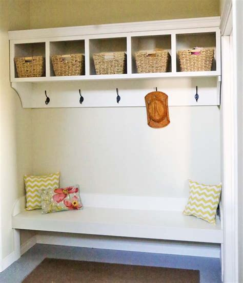 bench with cubbies and hooks ana white large custom mudroom organizer with cubbies