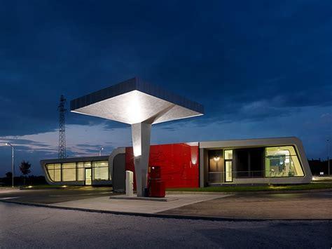 innovative gazoline petrol station design by damilano studio architects minimalist architecture