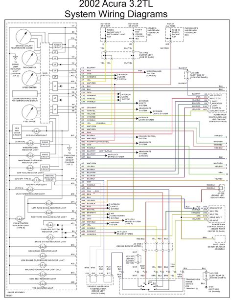 2002 acura 3 2tl system wiring diagrams part 1 schematic