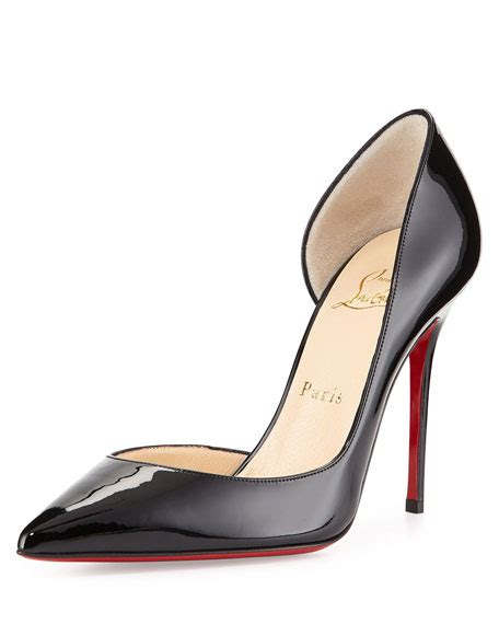 Christian 88618vl 2in1 Leather 2 christian louboutin iriza patent leather half d orsay