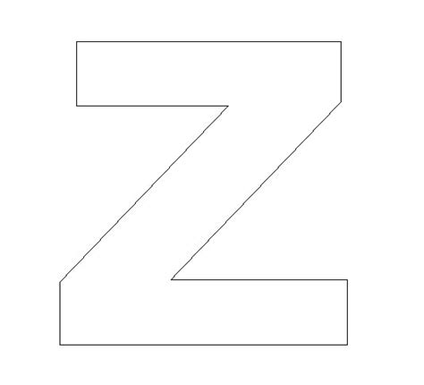 printable z template z template colouring pages
