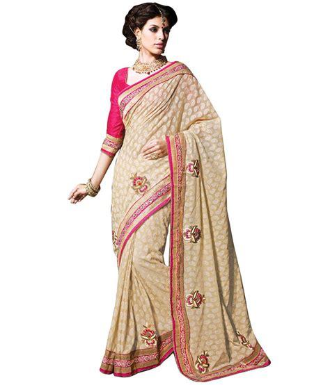 Yesha Set yesha creations beige cotton saree buy yesha creations