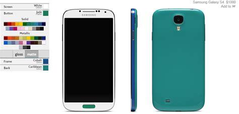 Samsung Galaxy S4 Custom colorware lets you customize your samsung galaxy s4 in almost any color